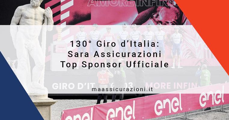 130° Giro d'Italia: Sara Assicurazioni Top Sponsor